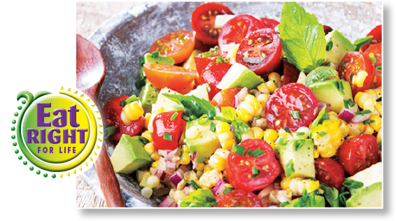 Fresh Corn, Cherry Tomatoes & Avocado Salad