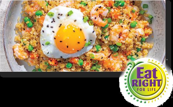 Shrimp Fried Quinoa Bowl for One