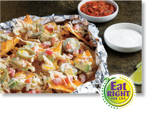 Grilled Foil Chicken Nachos