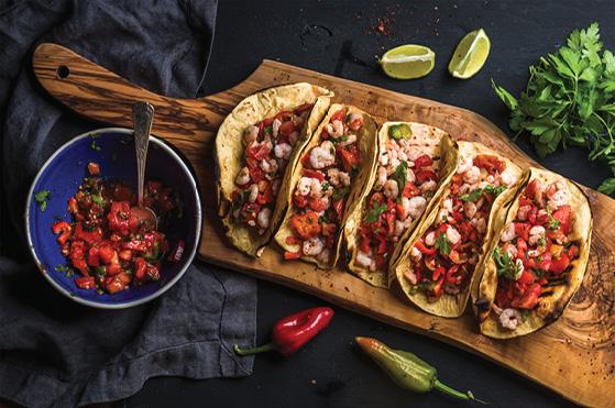 Shrimp and Zucchini Tacos