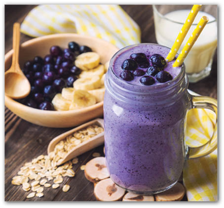 Blueberry Oat Smoothie