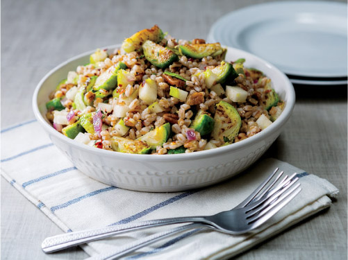 Warm Brussels Sprouts & Farro Salad