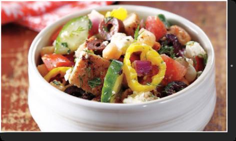 Chopped Greek Chicken Salad